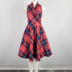Retrolicious Red & Blue Plaid Dress